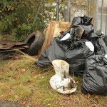 Teil des abgelieferten Mülls