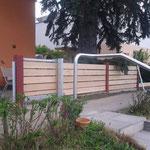 Neuer Gartenzaun mit Schiebetor in kooperation mit Fa. Galand