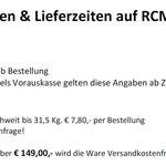 RCM Versandkosten