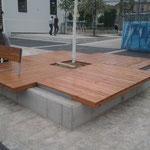 Sitzbänke sib. Lärche Wien Yppenplatz