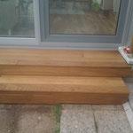 Terrassendiele Eiche mit Rubio Monocoat RCM Wood Protector behandelt