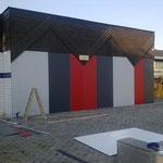 Ottakringerbad Fassade aus Compactplatten