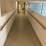 Handlauf Eiche mit Edelstahlbögen Pensionistenwohnheim Wien