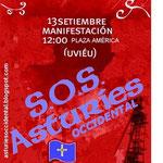 Manifestación por el reconocimiento de Asturies Occidental en la O.M.U. 13 de septiembre de 2009