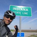 Von Illinois nach Indiana.