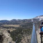Aufstieg zum 3309m hohen Wolfs Creek Pass.