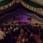 Feier im Festzelt