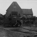 Übung Achterkamp/Dorfstraße Anfang der 50er