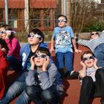 Pause gabs nicht - aber immer wieder bestaunten die Kinder für einige Minuten das Naturschauspiel.
