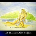 Akt 20, 42x56, Aquarell