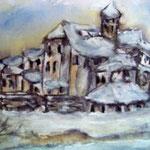 Alte Stadt im Winter