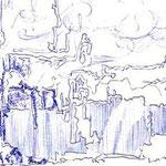 Framdes Land (mit Kugelschreiber gezeichnet)