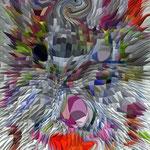 abstrakte maske