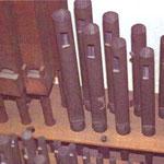 """Originalpfeifen von """"Concertflöte"""" 8-Fuß - Wechsel der Bauart zwischen Holz- und Metallpfeife."""