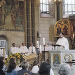 Die Predigt hielt Pfarrer Hans Georg Müller, der seinerzeit Kaplan bei Pfr. Frorath in Altenkessel war.