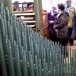 Blick in die Klais-Orgel.