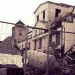 Abriss des Sudhauses der Schultheis-Brauerei.
