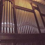 Der Orgelprospekt, fast original von 1910.