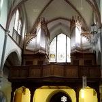 Empore und Orgel von St. Aegidius, Bornheim-Hersel.