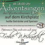 """Plakat """"Adventsingen 2016"""""""