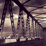 Ein schöner Blick auf die alte Rheinbrücke.