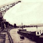Im ehemaligen Stromhafen war früher einiges los.