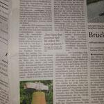 Bericht über den Glockendiebstahl in der Rhein-Zeitung am 15.11.2016.
