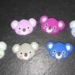 """Koala"" mehrfarbig (lila, dunkelpink, babyblau, mint, hellgrau, marine)"