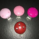 Clips uni (rosa, pink modern, dunkelpink, bordeaux)