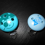 Motivclips (pirat türkis, luusbueb blau)