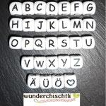 Silikonbuchstaben, 10mm, (1.-/Stk)