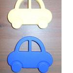 Beissauto (pastellgelb, blau)