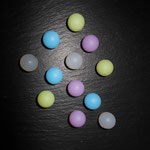 """Silikonperlen """"Frost"""" (weiss, blau, lemon, flieder)"""