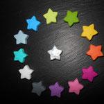 """""""Star"""" (lemon, apfel, gelb, orange, dunkelpink, rosa, lila, grau, weiss, türkis, babyblau, skyblau, mitte weiss met)"""