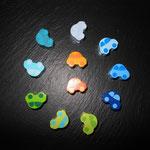 Motivperlen Autos (pastellblau, hellblau, skyblau, dunkelblau, lemon/apfel, lemon/türkis, grün, helltürkis, türkis, hellorange, duneklorange)