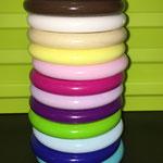 Ringe für Greiflinge klein (türkis, dunkelblau, babyblau, grün, purpur, flieder, dunkelpink, rosa, pastellgelb, natur, weiss, braun, hellgrau)