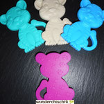 Beisstiger (türkis, beige, skyblau, pink)
