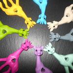Beissgiraffe (blau, beige, grau, mint, lila, pink, grün, gelb)