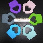 Beisseule (lila, rosa, grün, mint, skyblau, grau)