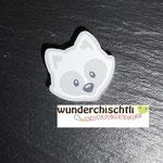 """Motivperle """"Waschbär"""" (grau)"""