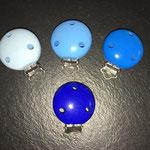Clips uni (babyblau, skyblau, mittelblau, dunkelblau)