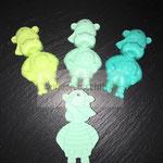Hippo (lemon, mint, türkis und skyblau (fehlt auf dem Foto))