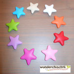 """Stern"" (beige, weiss, orange, rot, rosa, pink, lila, apfel, skyblau)"
