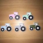 """""""Traktor farbig"""" (rosa, mint, babyblau, hellgrau, army)"""