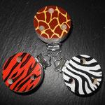 """Motivclip """"Safari"""" (Giraffe, Zebra, Tiger)"""