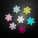 """""""Blume klein"""" (lemon, türkis, pink, flieder ausverkauft, rosa, babyblau, weiss)"""