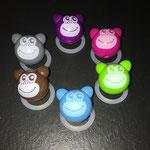 """Motivperle """"3D Affe"""" (purpur, dunkelpink, grün, blau, braun grau)"""