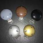 Clips uni (grau, braun, schwarz, silber, gold)
