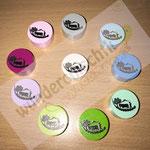 "Motivperle ""Senn"" (Eigenproduktion), (hellgrau, babyblau, skyblau, mint, grün, lemon, flieder, dunkelpink, rosa, weiss)"