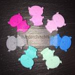 """Eulen2""  (rosa, flieder, blau, mint, türkis, grau, pink)"